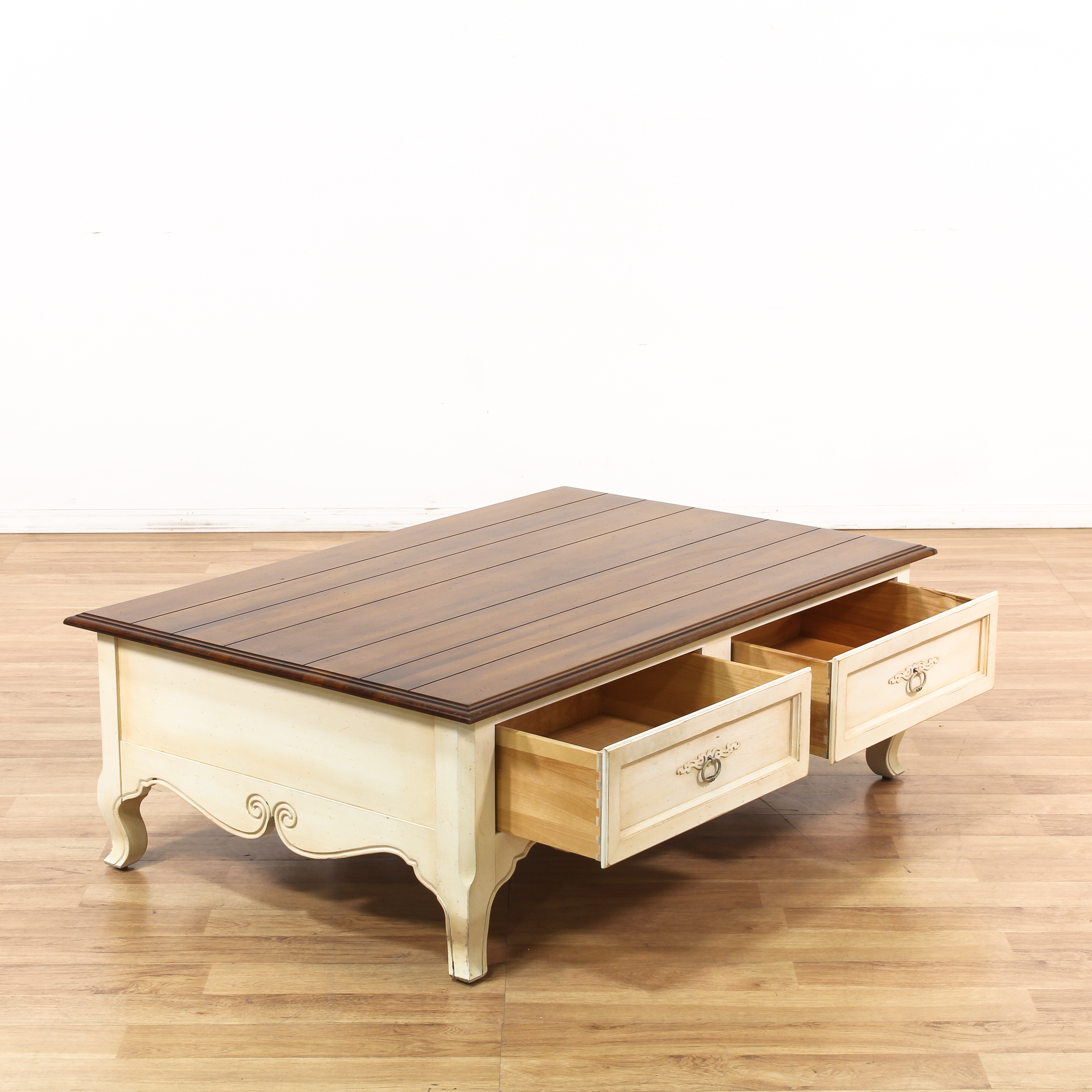 "Traditional Coffee Tables Ethan Allen: ""Ethan Allen"" 2 Drawer Coffee Table"